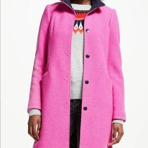 Boden Hengrave Coat Hot Pink SZ10